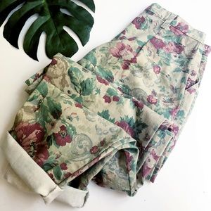 Vintage Carlyle floral high waist mom jeans